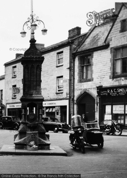 Photo of Axminster, Fountain, Trinity Square c.1955