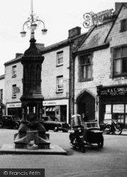 Axminster, Fountain, Trinity Square c.1955