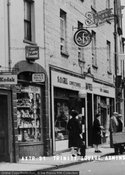 Photo of Axminster, Trinity Square Shops c.1955