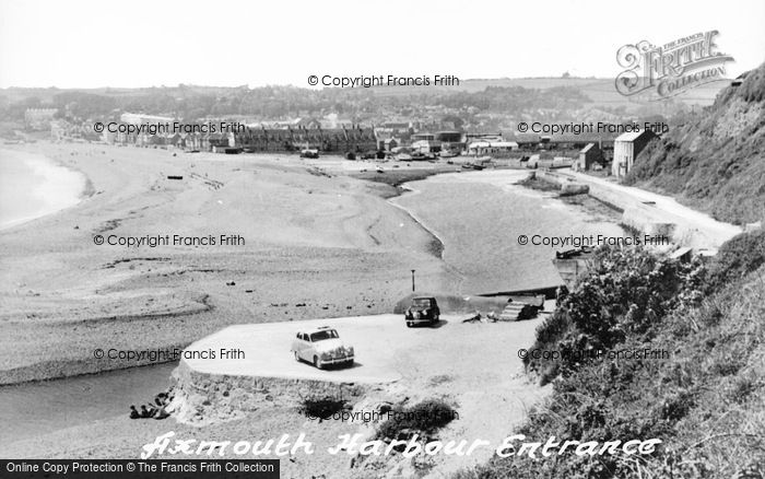 Photo of Axmouth, Harbour Entrance c.1955
