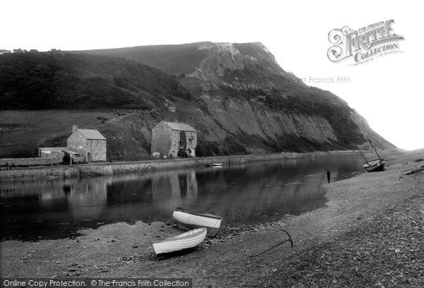 Photo of Axmouth, The Harbour And Haven Cliff 1922