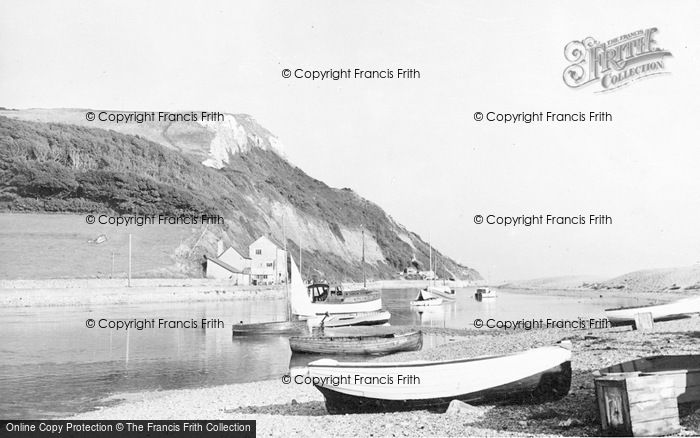 Photo of Axmouth, The Harbour c.1955