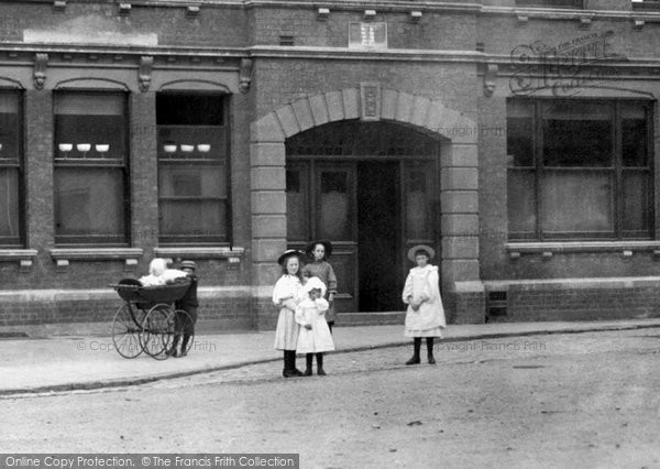 Photo of Aylesbury, Children Outside The Victoria Hall 1897