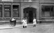 Aylesbury, Children Outside The Victoria Hall 1897