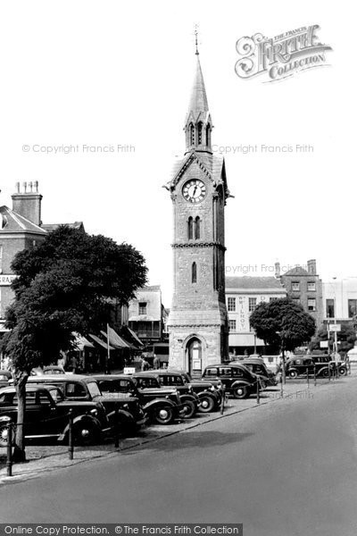 Photo of Aylesbury, Clock Tower And Market Square c.1955