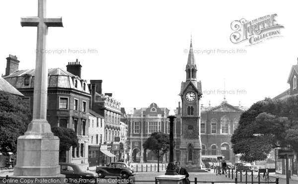 Photo of Aylesbury, Market Place c.1955