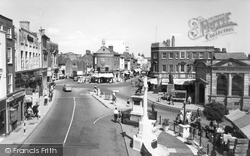 Aylesbury, Market Square c.1955