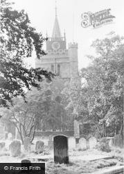 Aylesbury, St Mary's Church c.1955