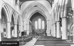 Aylesbury, St Mary's Church, The Nave c.1950