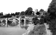 Aylesford, Bridge And River Medway c.1960