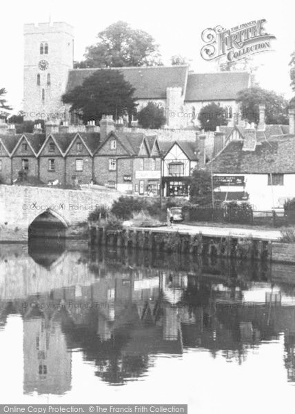 Photo of Aylesford, The Bridge And Church c.1960