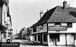 Aylesford, The George Inn And High Street c.1960