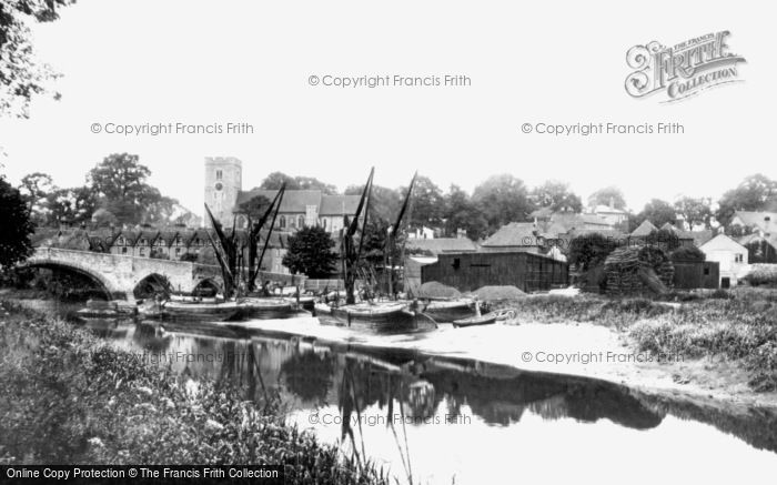 Photo of Aylesford, The River Medway 1898
