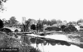 Aylesford, the River Medway 1898