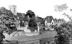 Aylesford, Village From The River Medway c.1960