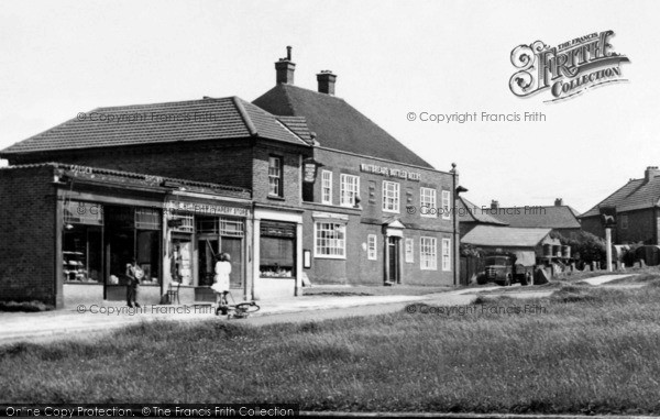 Photo of Aylesham, Dorman Avenue, Shops And The Greyhound c.1955