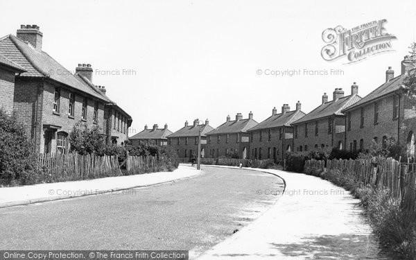 Aylesham, Milner Crescent c1955