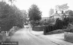 Aylsham, Cromer Road And St Michael's Church c.1965