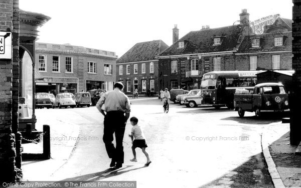 Aylsham, Market Place and Hotel c1965