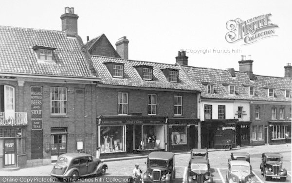 Photo of Aylsham, Market Place c.1952