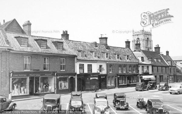 Photo of Aylsham, Market Place c.1952