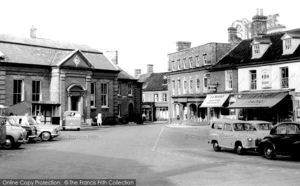 Aylsham, Market Place c1955