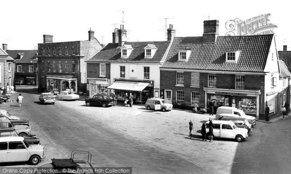 Aylsham, Market Place c1965