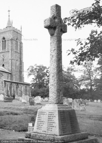 Photo of Aylsham, Memorial c.1965