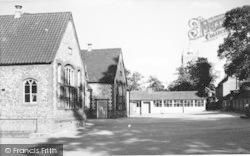 Aylsham, School And St Michael's Church c.1960