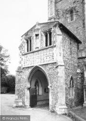 Aylsham, St Michael's Church, The Doorway c.1965