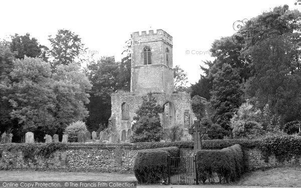 Photo of Ayot St Lawrence, The Old Church c.1955