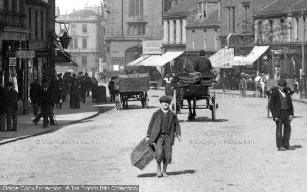 Photo of Ayr, Delivery Boy In High Street 1900