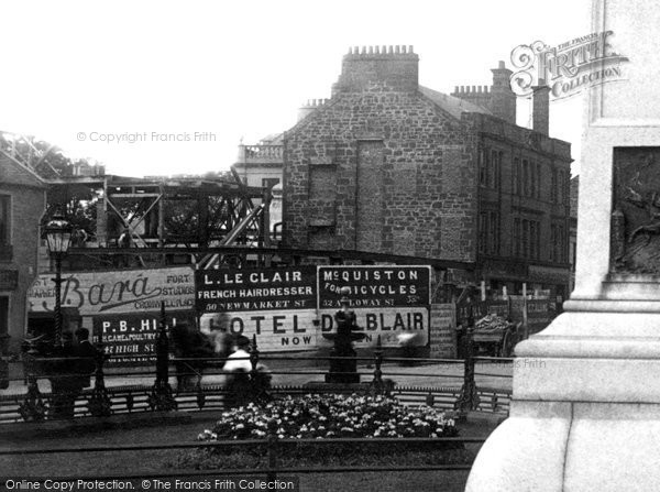 Photo of Ayr, Hoardings At Alloway Street And Dalblair Road Junction 1897