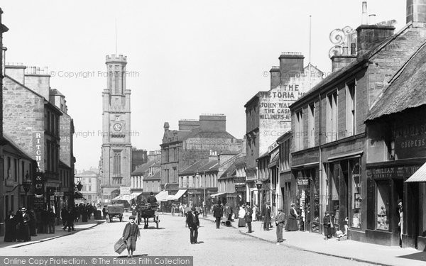 Photo of Ayr, Wallace Tower And High Street 1900