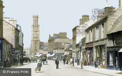 Wallace Tower And High Street 1900, Ayr
