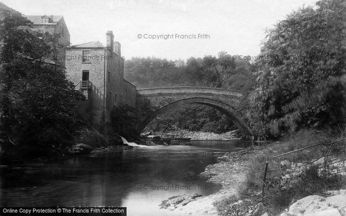 Photo of Aysgarth, Bridge And Mill 1893