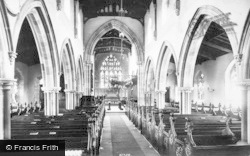 Aysgarth, Church Interior 1909