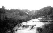 Aysgarth, Middle Falls And Church 1887