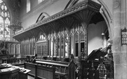 Aysgarth, St Andrew's Parish Church, Choir Stalls 1925