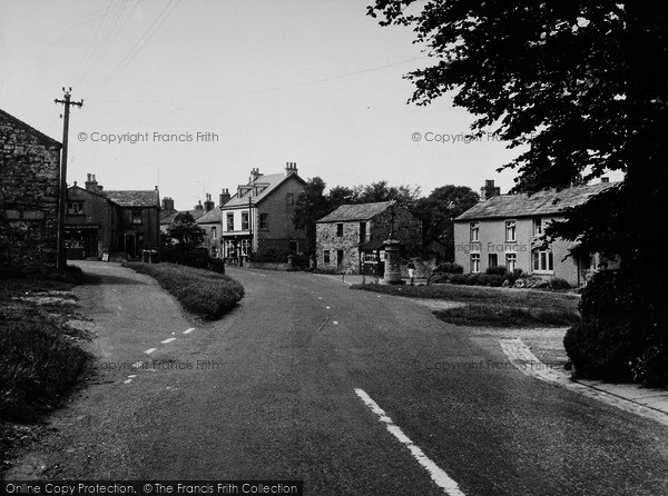 Photo of Aysgarth, The Village And War Memorial c.1955