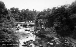 Aysgarth, Upper Falls c.1955