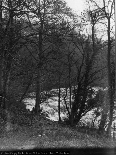 Photo of Aysgarth, Upper Falls From Woods c.1932
