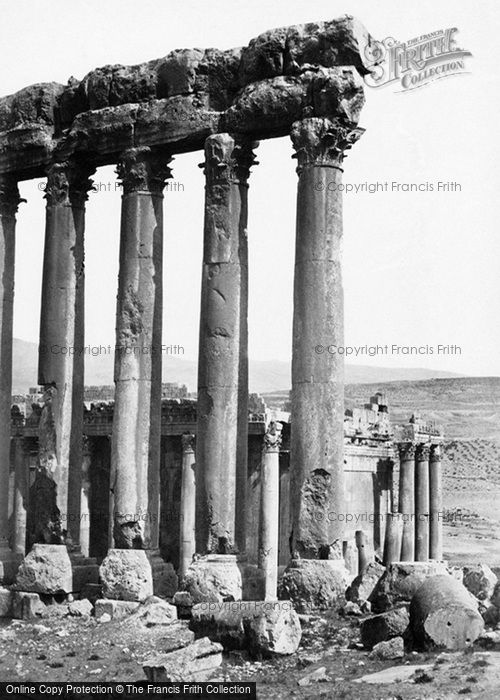 Photo of Baalbek, The Great Pillars And Smaller Temple 1857