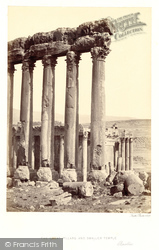Baalbek, The Great Pillars And Smaller Temple 1857