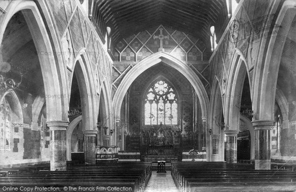 Photo of Babbacombe, All Saints Church Interior 1904