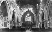Babbacombe, All Saints Church Interior 1904