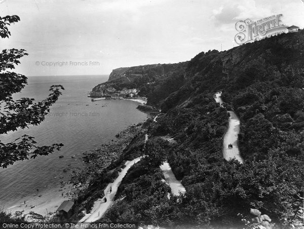 Photo of Babbacombe, Cliffs And Bay 1924