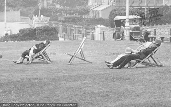Photo of Babbacombe, Deck Chairs On The Downs 1928