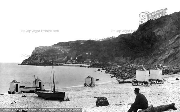 Photo of Babbacombe, From Oddicombe Beach 1889