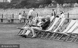 Babbacombe, Girls Sitting In Deck Chairs 1928